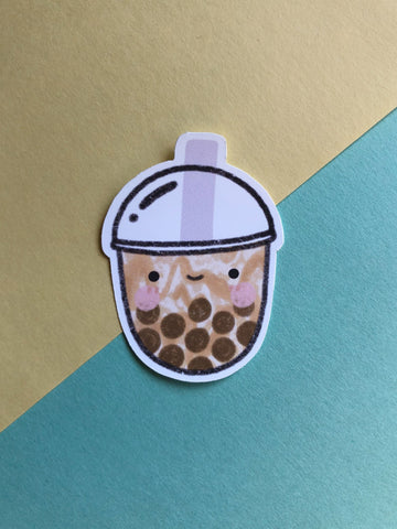 bubble tea jumbo sticker - Hey Soosie
