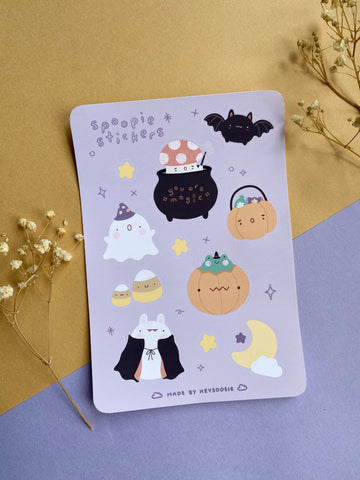 halloween themed sticker sheet - Hey Soosie