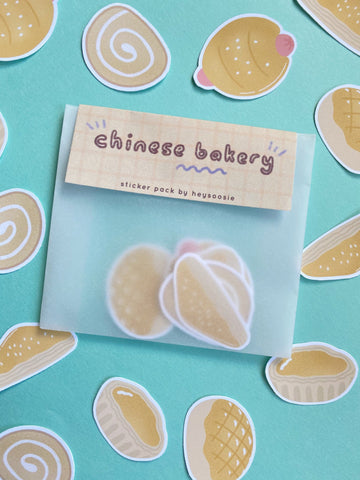 chinese bakery themed sticker pack - Hey Soosie