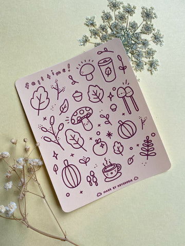 fall themed mini sticker sheet - Hey Soosie