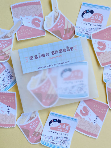 asian snacks themed sticker pack - Hey Soosie