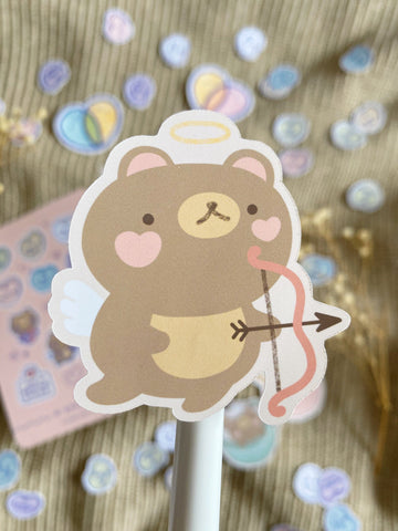 cupid bear sticker