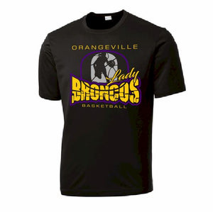 Orangeville Broncos Girls Basketball Performance T-Shirt - Customizable