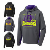 Orangeville Broncos Girls Basketball Performance Colorblock Hooded Sweatshirt - Customizable