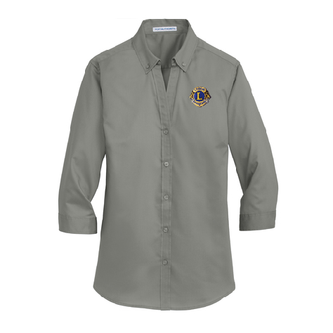 Lions of Illinois Ladies 3/4-Sleeve Button-Front Shirt