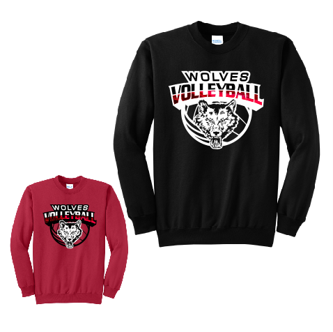 Pearl City Wolves Volleyball Crewneck Sweatshirt - Customizable