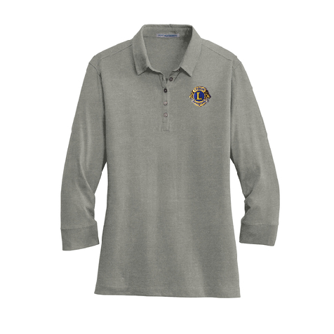 Lions of Illinois Ladies 3/4-Sleeve Cotton Blend Polo