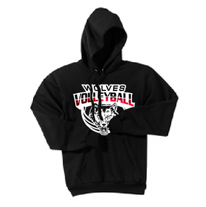 Pearl City Wolves Volleyball Hooded Sweatshirt - Customizable