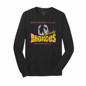 Orangeville Broncos Girls Basketball Long-Sleeve T-Shirt - Customizable