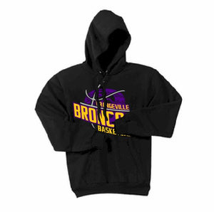 Orangeville Broncos Basketball Hooded Sweatshirt - Customizable