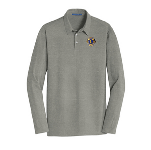 Lions of Illinois Long-Sleeve Cotton Blend Polo