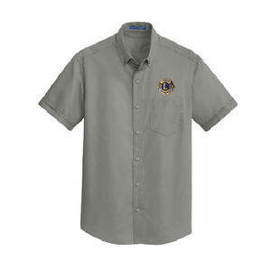 Lions of Illinois Short-Sleeve Button-Front Shirt