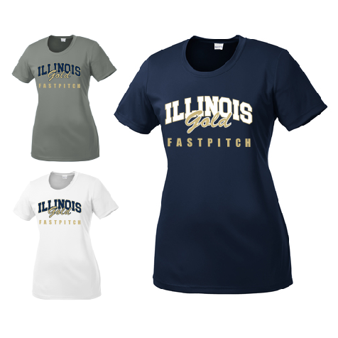 Illinois Gold Fastpitch Ladies Performance T-Shirt - Customizable