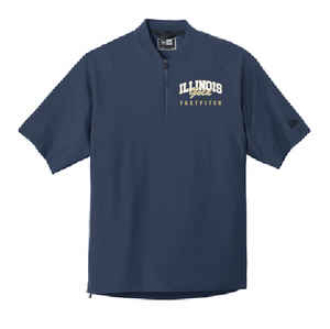 Illinois Gold Fastpitch Cage Short-Sleeve 1/4-Zip Jacket - Customizable
