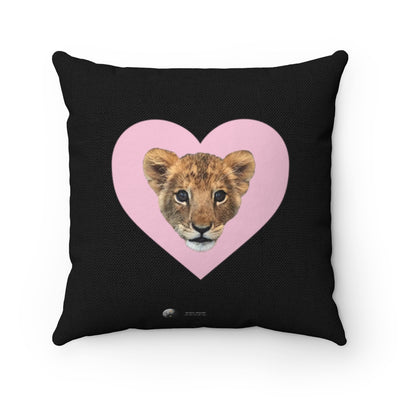 LION CUB PINK HEART PILLOW
