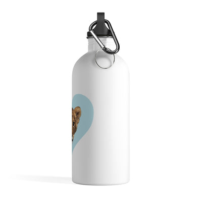 LION CUB BLUE HEART WATER BOTTLE