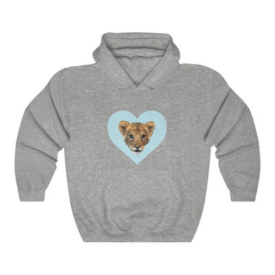 LION CUB BLUE HEART PULLOVER HOODIE