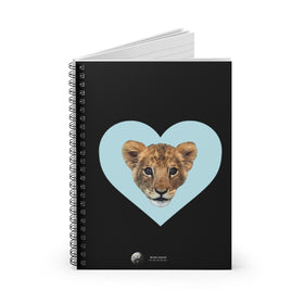 LION CUB BLUE HEART SPIRAL NOTEBOOK - RULED LINE