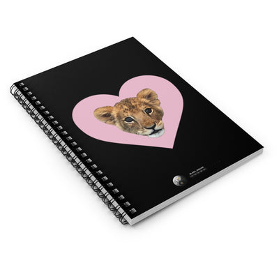 LION CUB PINK HEART SPIRAL NOTEBOOK - RULED LINE