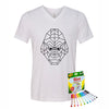 Coloring Gorilla Youth V-Neck T-Shirt With Crayola Markers