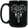 Save Elephant 15 oz. Black Mug