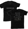 #SAVEOURPLANET TEXT MEN'S V-NECK T-SHIRT