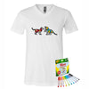 Coloring Cubs Men V-Neck T-Shirt With Crayola Markers
