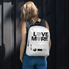 LOVE MORE -WHYTE COLLECTION - White Backpack