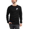 BLACK JAGUAR WHITE TIGER - BLACK LABEL - CHEST LOGO AND SLEEVE - Unisex Long Sleeve Tee