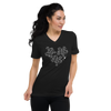 MINIMAL BJWT HEART - BLACK LABEL - Unisex Short Sleeve V-Neck T-Shirt