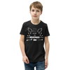 ANGELS are born inNOVEMBER - BLACK LABEL -Youth Short Sleeve T-Shirt