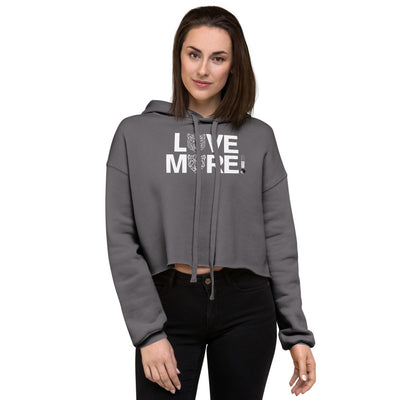 LOVE MORE -  BLACK LABEL - Crop Hoodie