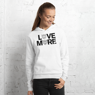 LOVE MORE - WHYTE COLLECTION - white / grey Unisex hoodie