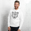 MINIMAL JAGUAR - WHYTE COLLECTION - white / grey Unisex hoodie