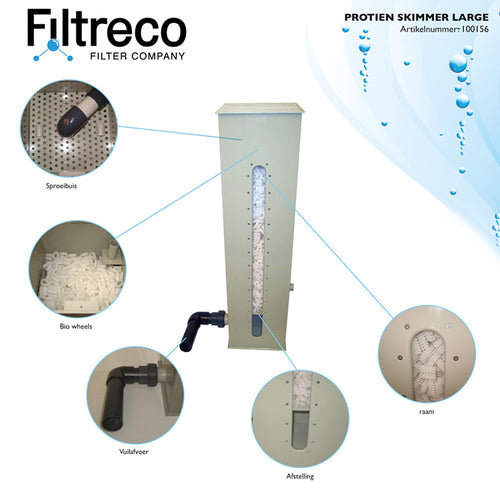 Filtreco Protein Skimmer Trickle Filter Foam Fractionator koi pond filter