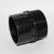 "40mm Socket Plain x 1.5"" Male Thread Black Waste"