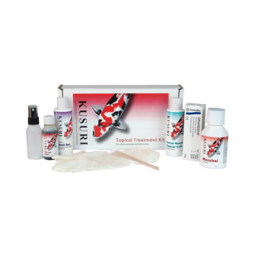 Kusuri 8-Piece Topical Treatment Kit for Koi - Treatment for koi and pond fish