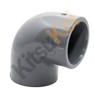 PVC Pressure 90 Degree Plain Elbow/Bend for koi and pond filters