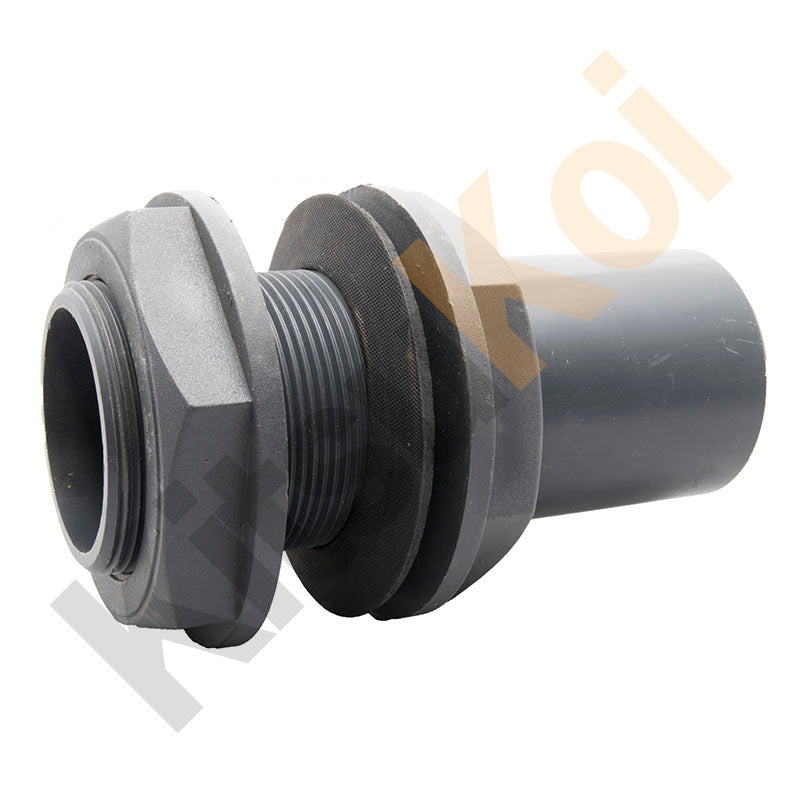 PVC Pressure threaded bulkhead adapter koi pond filter plumbing