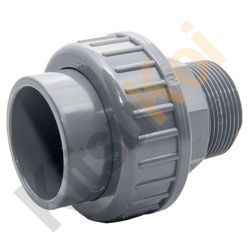 PVC Pressure male union for koi pond filter plumbing
