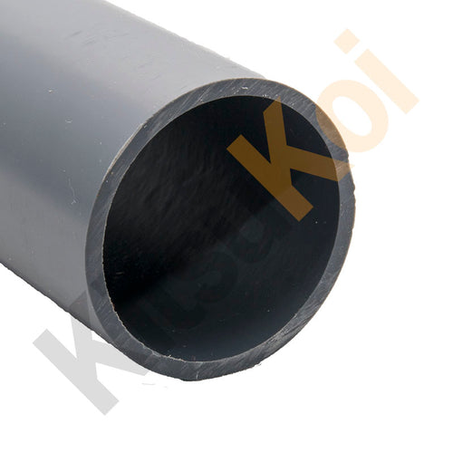 3m Grey PVC Pressure Pipe for koi and pond filters