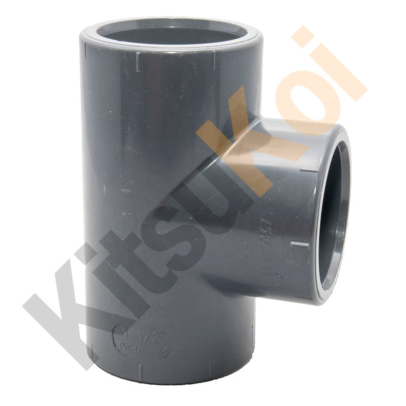 PVC Pressure Plain Equal T for koi and pond filters