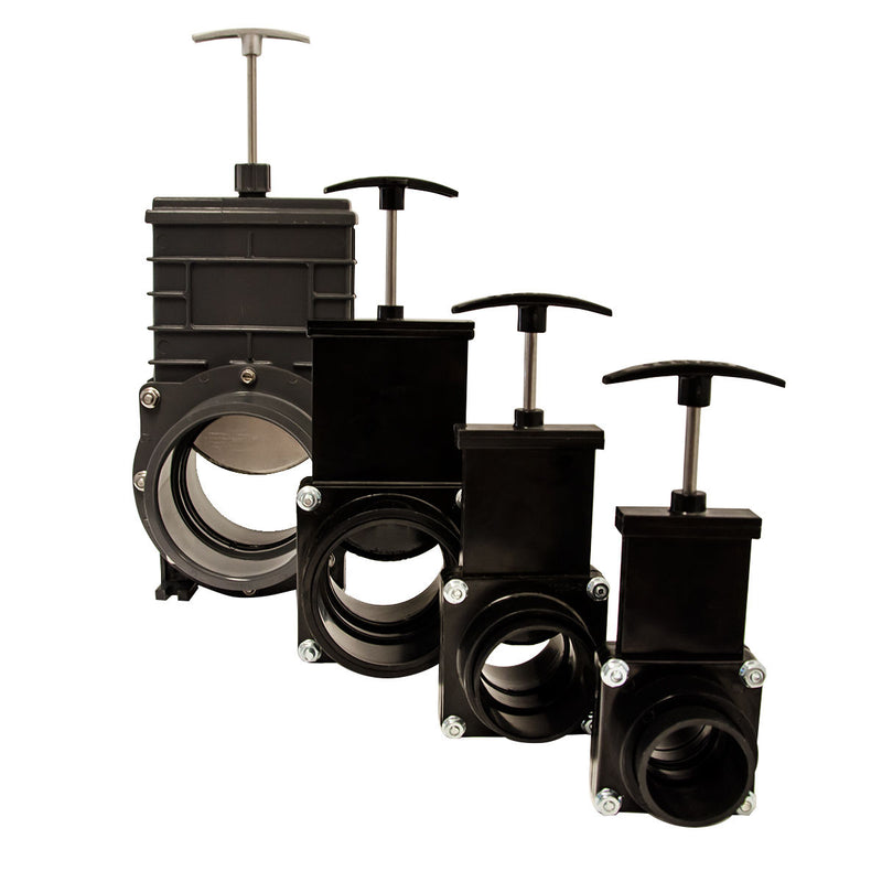 Valterra PVC Slide Valves for Koi ponds and Filters