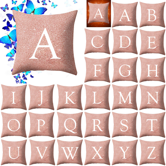 A to Z Letter Pattern Throw Pillow Cover