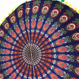 Bohemian Round Floor Pillow Cover Multicolor / F Pillow Cover