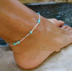 Bohemian Turquoise Anklet Jewelry