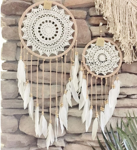 Boho Gypsy Crochet Dream Catcher - spirited-gypsy.myshopify.com