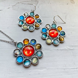 Solar System Halo Jewelry Set