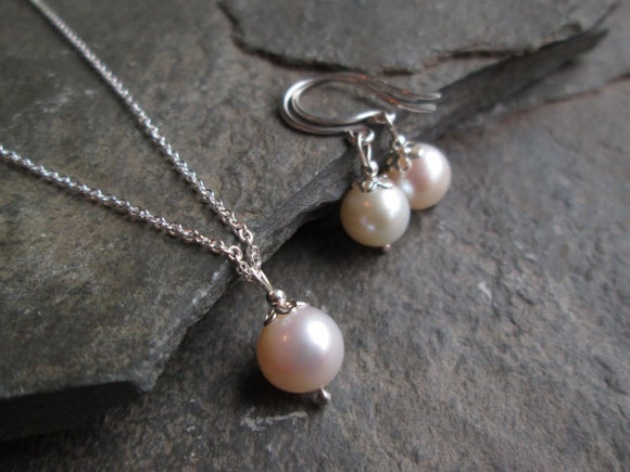 Classic Pearl and earring set Jewelry