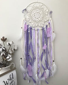 Custom Purple Bohemian Style Medium Dream Catcher - spirited-gypsy.myshopify.com